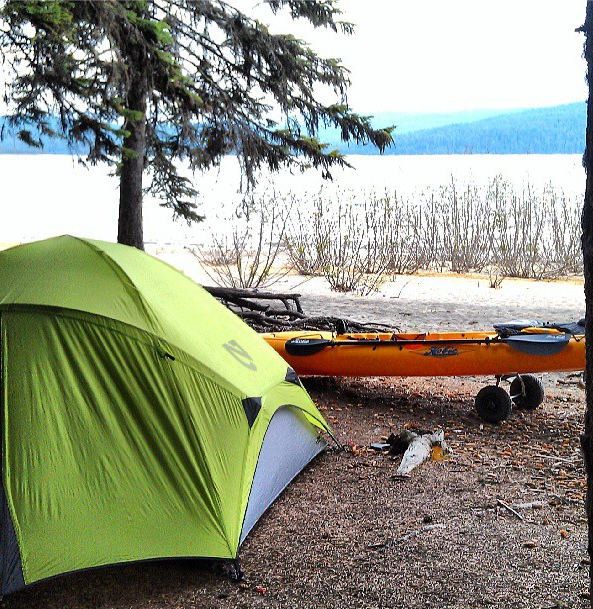 Our killer campsite. Photo by my hubs.