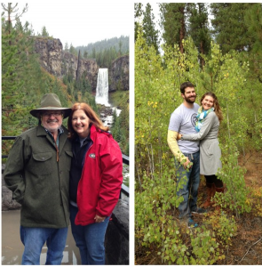 We took Mom and Warren to Tumalo Falls and Shevlin Park when they were here! It was a little drizzly, but still pretty.