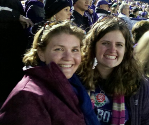Ashley and I after TCU won the Rose Bowl. We might have cried. ;)