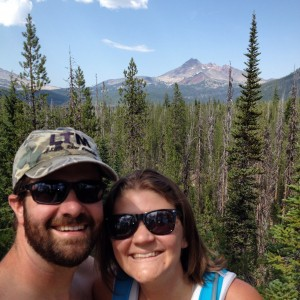 "HIking by Sparks Lake this summer.  ""Whatever our souls are made of, his and mine are the same."""